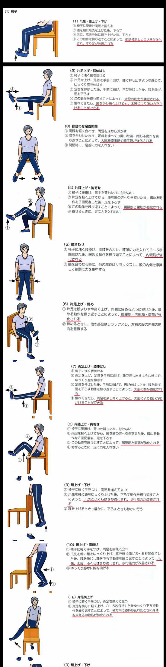 筋力 トレーニング 下肢
